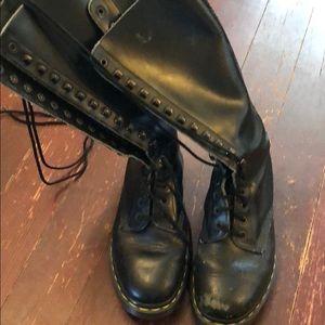 Doc Martens tall black AirWair women's 8 scuffed